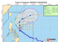 """台风""""毕星""""对菲律宾多地带来强降雨"""